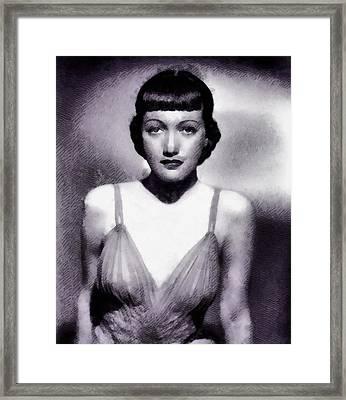 Dorothy Lamour, Actress Framed Print by John Springfield