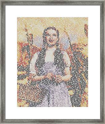 Framed Print featuring the mixed media Dorothy Made Of Wizard Of Oz Quotes by Paul Van Scott