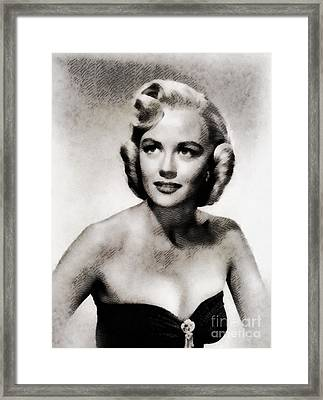 Dorothy Malone, Vintage Actress By John Springfield Framed Print