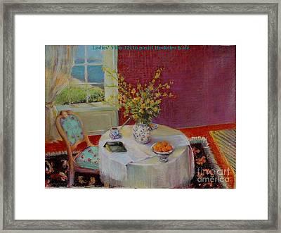 Dorothy S  View   Copyrighted Framed Print by Kathleen Hoekstra