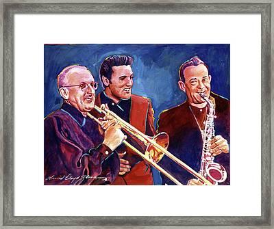 Dorsey Brothers Meet Elvis Framed Print by David Lloyd Glover