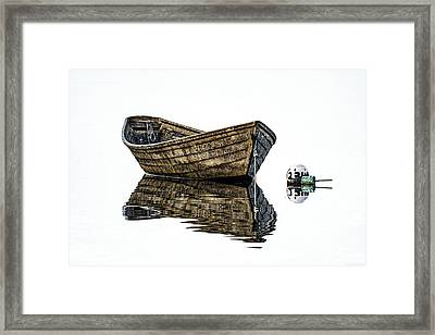 Dory And Mooring Framed Print