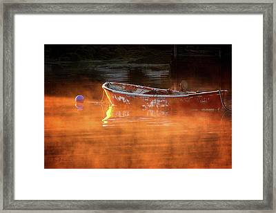 Dory In Orange Mist Framed Print