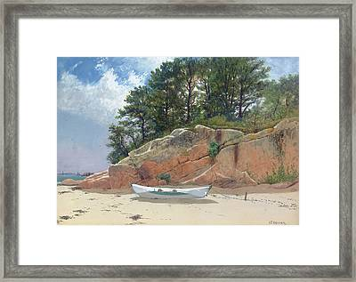 Dory On Dana's Beach Framed Print