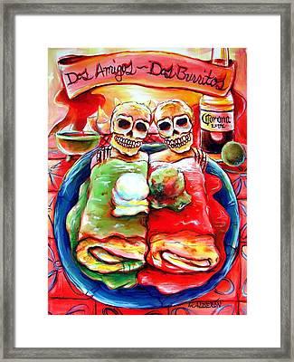 Dos Amigos Dos Burritos Framed Print