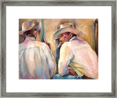 Dos Amigos Framed Print by Joan  Jones