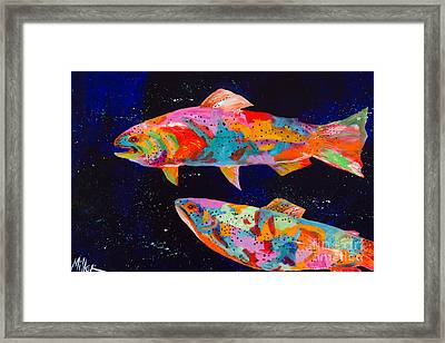 Dos Brown Trout Framed Print by Tracy Miller