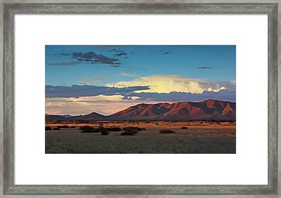 Dos Cabezos Sunset Serenity Framed Print