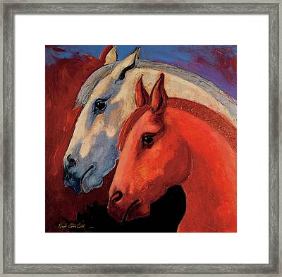 Dos Equus Framed Print by Bob Coonts