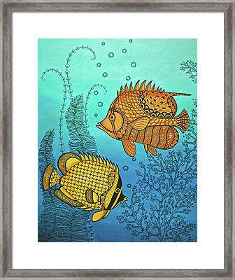 Dos Fishies Framed Print