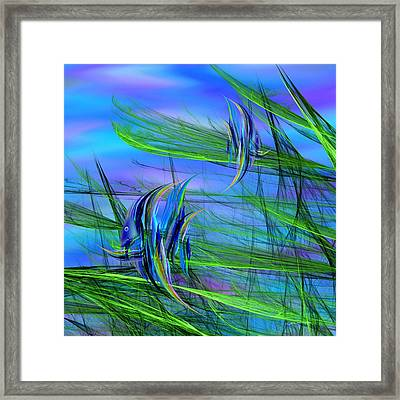 Dos Pescados En Salsa Verde Framed Print
