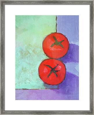 Dos Tomates Framed Print by Arte Costa Blanca