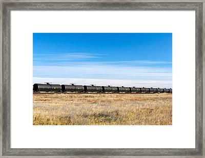Dot-111 Tank Cars Framed Print by Todd Klassy