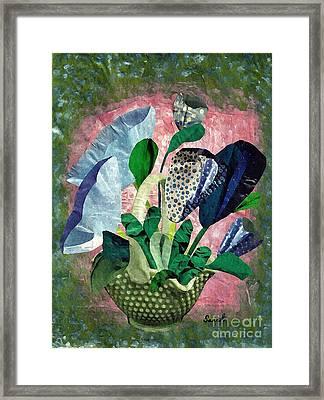 Dot Bouquet Framed Print by Sarah Loft