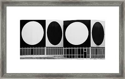 Dot Building Framed Print by Matthew Bamberg