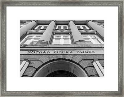 Dothan Opera House In Black And White Framed Print by Jeremy Raines