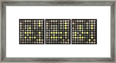 Dots 11-12-13 Framed Print by Richard Reeve