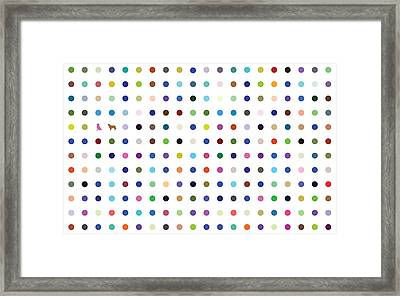 Dots And Dogs Framed Print by Brian Kirchner