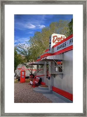 Dot's Diner In Bisbee Framed Print