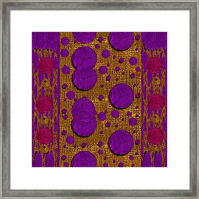 Dots Dripping And Dropping In A Decorative Style Framed Print
