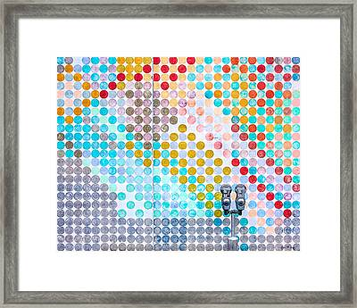 Dots, Many Colored Dots Framed Print