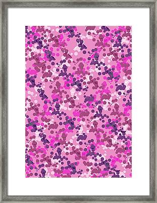 Dotted Camo Framed Print by Louisa Knight