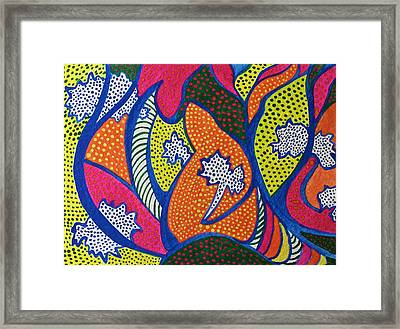Framed Print featuring the painting Dotted Forest by Polly Castor