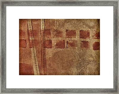 Dotted Squares Mixed Media 1 Framed Print by Carol Leigh