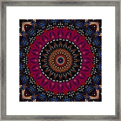 Dotted Wishes No. 5 Kaleidoscope Framed Print by Joy McKenzie