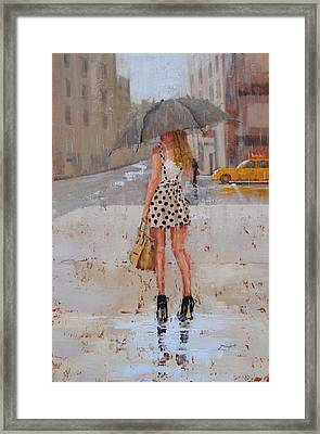 Dottie Framed Print by Laura Lee Zanghetti