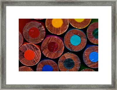 Dotty Framed Print by Lisa Knechtel