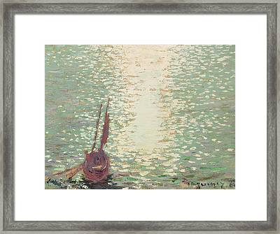 Douarnenez  Reflections On The Sea Framed Print by Emile Bernard