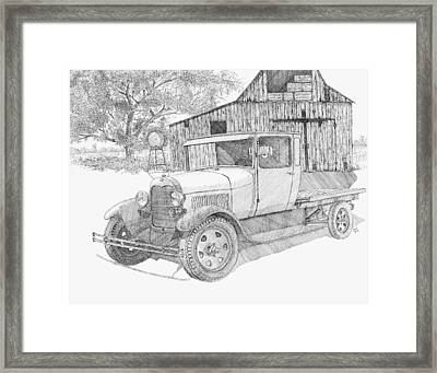 Double A Farm Framed Print by David King