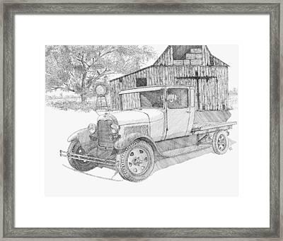Double A Farm Framed Print
