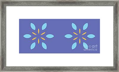 Double Abstract Flowers Framed Print by Pablo Franchi