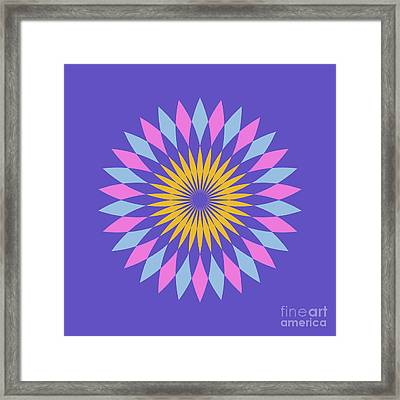 Double Abstract Purple Square Framed Print by Pablo Franchi