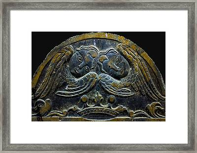 Double Angel Memorial Framed Print