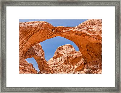 Double Arch At Arches National Park Framed Print