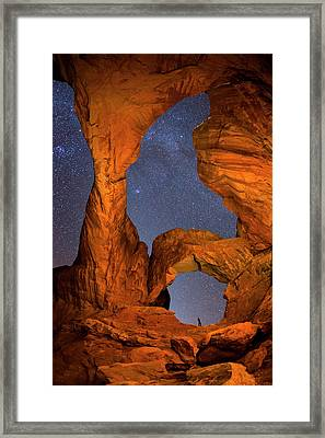 Double Arch At Night Framed Print