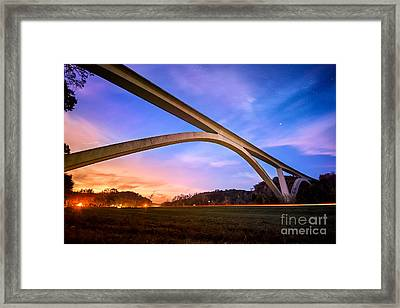 Double Arch Bridge Framed Print