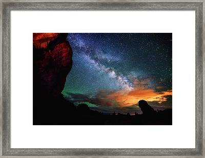 Double Arch View Framed Print by Darren  White