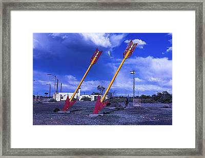 Double Arrows Framed Print by Garry Gay