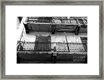 Double Balconies In Panama City Mono Framed Print by John Rizzuto