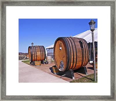 Double Barrels Framed Print