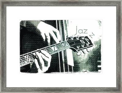 Double Bass And Guitar Framed Print