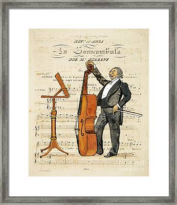 Double Bass Player Framed Print by Paul Helm