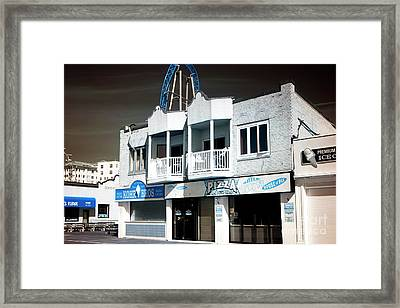 Framed Print featuring the photograph Double Boardwalk Balcony by John Rizzuto