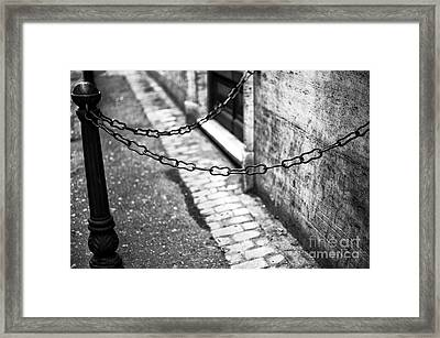 Double Chain Framed Print by John Rizzuto