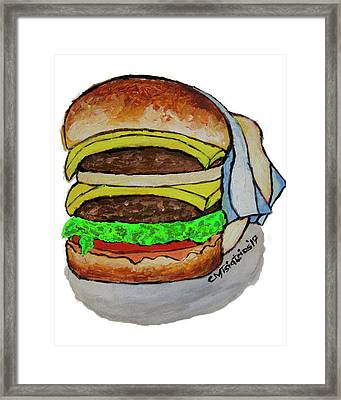 Double Cheeseburger Framed Print