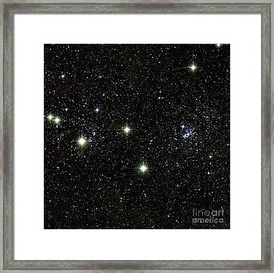 Double Cluster, Ngc 869 And Ngc 884 Framed Print by Science Source